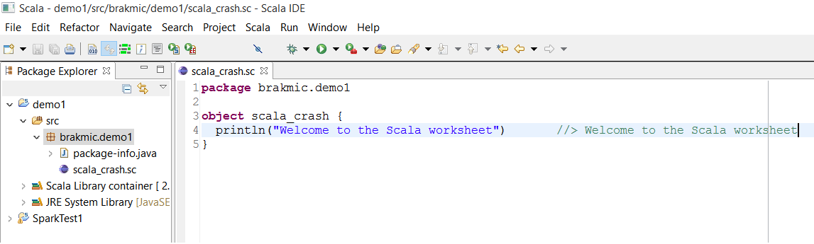 Scala Crash Course Part 1 Coding – Scala Worksheet