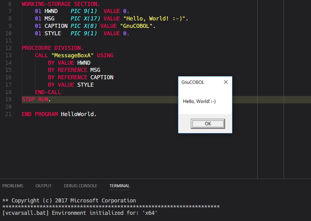 How to run cobol in 64 bit windows youtube.