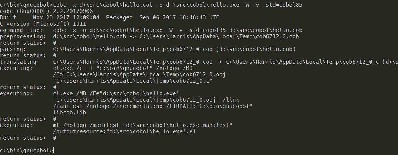 backend compiler program in c